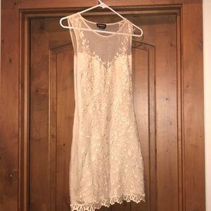 Gorgeous lace, mesh Bebe dress